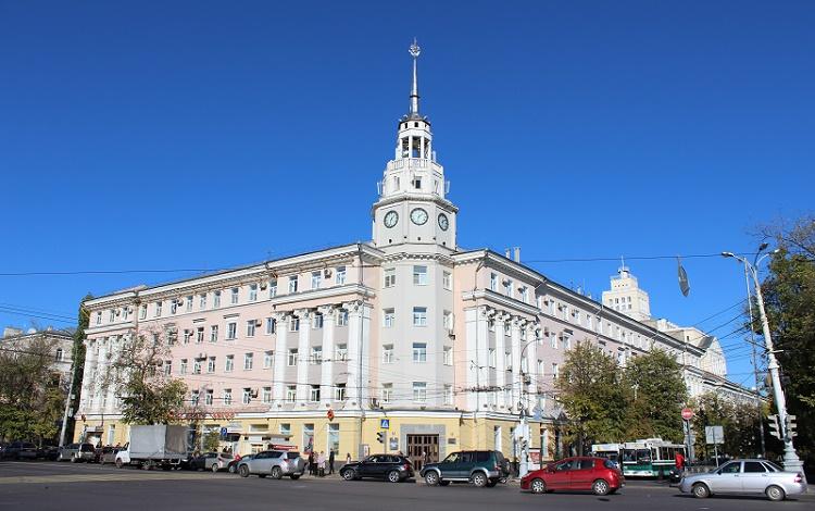 Площадь Ленина и здание мэрии Воронежа. арх. Замятнин